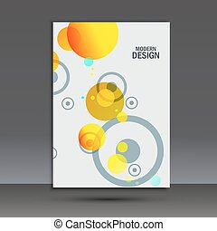 Abstract circles on simple background. Vector brochure...