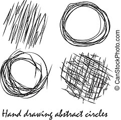 Abstract circles Painted by hand