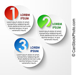 Abstract circles paper infographics