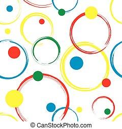 Abstract Circles Seamless Pattern