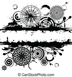 Abstract circles square background