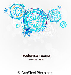 Abstract circles vector background