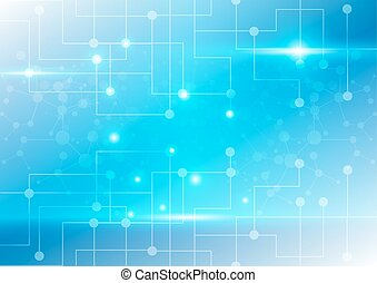 abstract circuit and network technology background