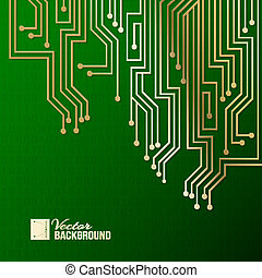 Abstract circuit background.