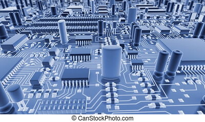 Abstract circuit board.