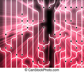 Abstract circuitry - Abstract wallpaper illustration of...