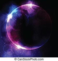 abstract, circulaire, ruimte, ontwerp