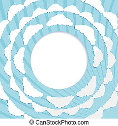 Abstract circular background with clouds