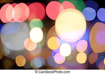 Abstract circular bokeh background of Citylight
