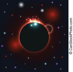 Abstract circular cosmos galaxy design
