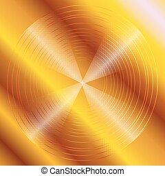 Abstract circular dark golden