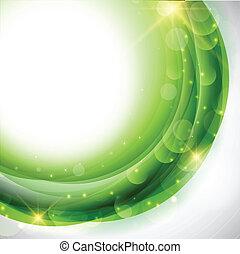 Abstract circular design using shades of green