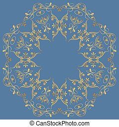abstract circular ornament in Oriental style