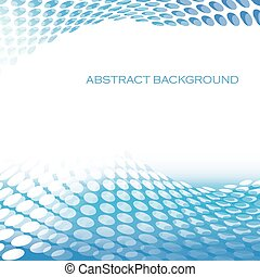 Abstract circular pattern waves blue background