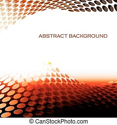 Abstract circular pattern waves red background