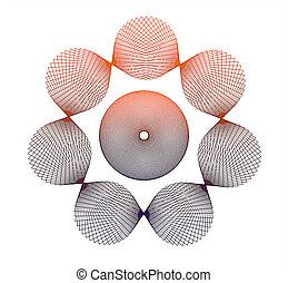 Abstract circular shapes