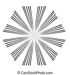 abstract Circular sparkle black rays explosion