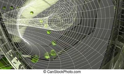 abstract circular tunnel . 3d graphics , vj
