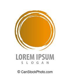 Abstract cirlce sun concept design. Symbol graphic template element