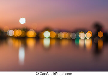 abstract city background of bokeh