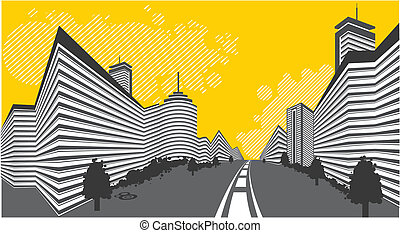 abstract city