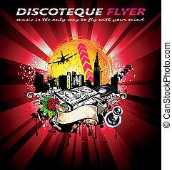 City Grunge Style Disco Background