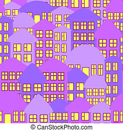 Abstract city landscape.