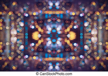abstract city light bokeh blue and yellow white color