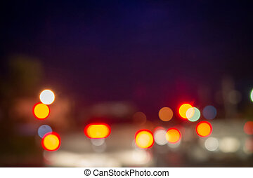 Abstract city lights in the night