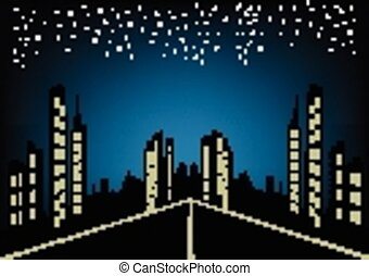 Abstract city night background