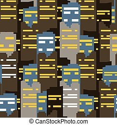 Abstract city seamless pattern