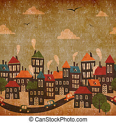 Abstract city vintage background