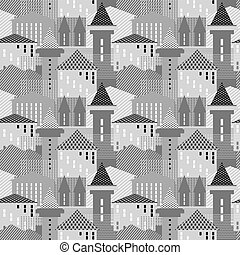 Seamless architectural pattern.