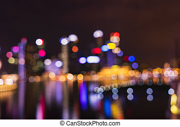 abstract cityscape light bokeh for background