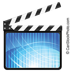 abstract clapper board