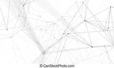 Abstract Clean Black And White Low Poly Waving polygons...