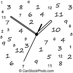 Abstract clock dial