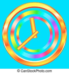 Abstract clock - Illustration of the abstract gold clock...