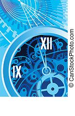 abstract clock machine background