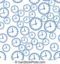 Abstract clock pattern