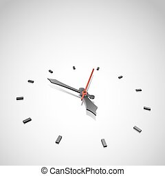 Abstract clock vector background with copy space.
