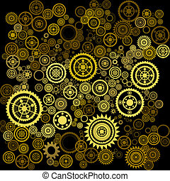 abstract clockwork background