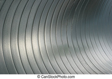 abstract close up inside large steel tubing
