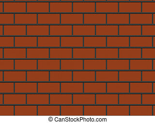 abstract close-up red brick wall background rendered from 3D