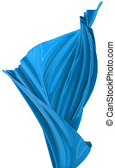 Abstract cloth - Abstract blue cloth on a white background,...