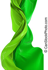 Abstract cloth - Abstract green cloth on a white background,...