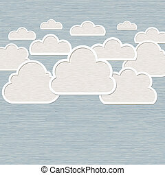 Abstract Cloud on blue background