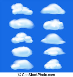 Abstract cloud on blue sky background. Nature concept