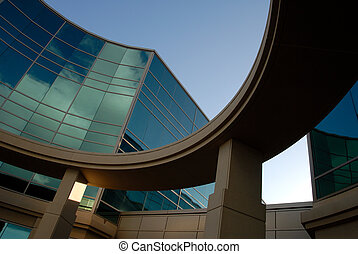 Office Building Exterior - Abstract Cloud Reflection and...