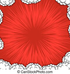 Abstract Clouds Burst Retro Holiday Vector Background